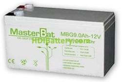 Bateria de Gel 12 Voltios 9AH (151x66x100mm) MBG9-12
